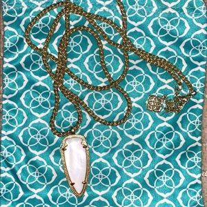 Kendra Scott long white arrow necklace